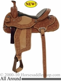 "** SALE **15"" Alamo Elite All Around Basket/Floral Border Tooled Saddle 1340"