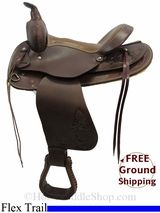 "PRICE REDUCED - New 15"" American Saddlery 524 Flex Trail Saddle usam3135 *Free Shipping*"