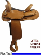 "PRICE REDUCED - New 15"" American Saddlery 526 Flex Trail Saddle, Wide Tree usam3183 *Free Shipping*"