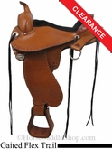 "15"" Circle Y Alabama Flex2 Trail Gaiter Saddle, wide tree 1581"