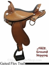 "15"" Circle Y Arkansas 1587 Flex2 Gaited Trail Saddle, Wide Tree, Exclusive uscy3093 *Free Shipping*"