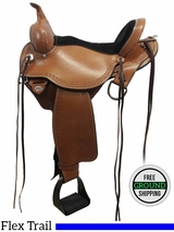 "SOLD 2016/06/01 15"" Circle Y Flagstaff 1571 Flex2 Trail Saddle, Extra Wide Tree, Floor Model uscy3099 *Free Shipping*"