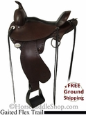 "PRICE REDUCED! 15"" Circle Y Gaited Flex2 Trail Saddle, Wide Tree uscy2704 *Free Shipping*"