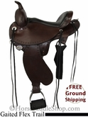 "PRICE REDUCED! 15"" Circle Y Gaited Flex2 Trail Saddle, Wide Tree uscy2712 *Free Shipping*"
