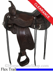 "SOLD 2014/07/12 $2069.10 15"" Circle Y Julie Goodnight Monarch Flex2 Arena Performance Saddle 1752"