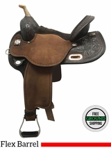 "15"" Circle Y Kelly Kaminski Faith Wide Flex Barrel Saddle 1524, Floor Model uscy3607"