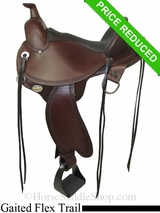 "15"" Circle Y Kentucky Flex2 Trail Gaiter Saddle 1582"