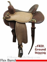 "15"" Circle Y Lisa Lockhart Contender 1549 Flex2 Barrel Saddle, Wide Tree, Floor Model uscy3027 *Free Shipping*"