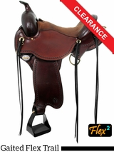 "SOLD 2016/05/10 16"" Circle Y Missouri Wide Flex2 Gaited Trail Saddle 1589 CLEARANCE"