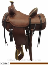 "15"" Circle Y Outfitter 1125 Ranch Saddle, Wide Seat uscy3284"