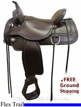 15� Circle Y Topeka 1651 Flex2 Trail Saddle, Wide Tree, Floor Model uscy3005 *Free Shipping*