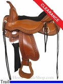 "15"" Circle Y Tree Free Just-B-Natural Trail Saddle, Wide 3910"