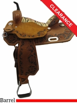 "15"" Circle Y XP Flora Barrel Saddle 2154 CLEARANCE"