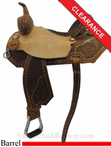 "15"" Circle Y Xtreme Performance Silesia Barrel Saddle 2156"