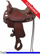 """SOLD 2014/09/12 $1329.60 15"""" Crates Light Ladies Competition Trail Saddle 2172"""