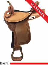 "15"" Dakota Barrel Saddle 343 CLEARANCE"