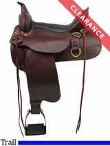 "15"" High Horse by Circle Y Big Springs Trail Saddle 6862 CLEARANCE"