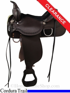 "SOLD 2014/06/27 $675 15"" High Horse by Circle Y Magnolia Cordura Trail Saddle 6909"