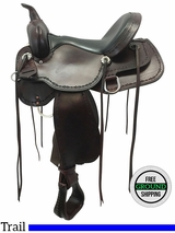 "SOLD 2016/12/14  15"" High Horse Winchester Wide Trail Saddle 6819, Floor Model ushh3610"