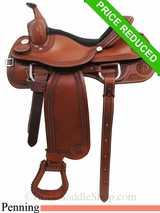 "15"" Rocking R Team Penning Saddle 990"