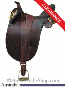 "SOLD 2014/08/16 $395 15"" Stockman Bush Rider Australian Saddle asjt181br"