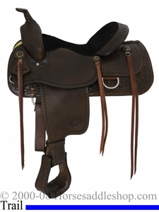 "15"" Tex Tan AQHA Calgary Pleasure Trail Saddle 08-4025"