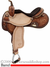 "15"" Tex Tan Circuit Champ Barrel Saddle 292226TT5"