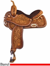 "15"" Tex Tan Buckstitch Racer Barrel Saddle 292231TT5"