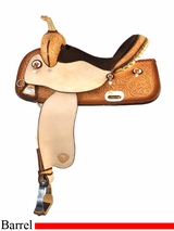 "15"" Tex Tan Flex Racer Barrel Saddle 292TF224NA5"