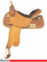 "15"" Tex Tan Go Round Barrel Saddle 292213PN5"