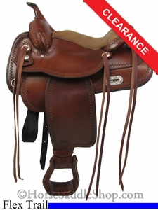 "SOLD 2014/07/16 $1012 15"" Tex Tan Salem Flex Trail Saddle 08-TF402-1"