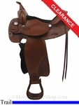 "SOLD 2014/04/18 $775 15"" Tex Tan Trail Saddle ustt2787 *Free Shipping*"