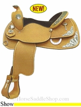 """NO LONGER AVAILABLE 15"""" to 16"""" Crates Supreme Show Saddle 2441"""