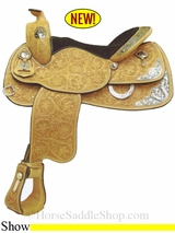 """NO LONGER AVAILABLE 15"""" to 16"""" Crates Supreme Show Saddle 2445"""
