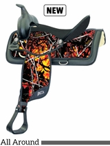 "15"" to 17"" Abetta Moonshine Camo All-Around Saddle 20575"