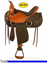 "** SALE **15"" to 17"" Big Horn Ladies Light Weight Trail Saddle 335 336 337"