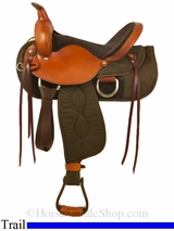 """15"""" to 17"""" Big Horn Ladies Light Weight Trail Saddle 335-336-337"""