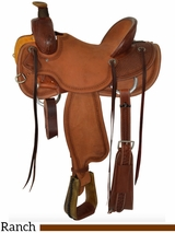 "15"" to 17"" Circle Y Barton Ranch Saddle 2125 w/Free Pad"