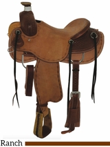 "15"" to 17"" Circle Y Clifton Ranch Saddle 2126 w/Free Pad"
