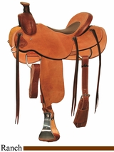 "** SALE ** 15"" to 17"" Circle Y Dry Fork Ranch Saddle 1128 w/Free Pad"