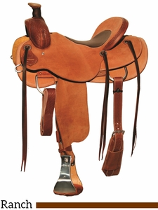 "15"" to 17"" Circle Y Dry Fork Ranch Saddle 1128 w/Free Pad"