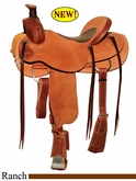 "15"" to 17"" Circle Y Dry Fork Ranch Saddle 1128 *free gift*"