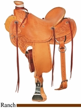 "** SALE ** 15"" to 17"" Circle Y XP Birch Creek Ranch Saddle 1114 w/Free Pad"