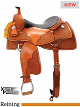 "** SALE ** 15"" to 17"" Circle Y Xtreme Performance Cowhorse Reining Saddle 1392 w/Free Pad"