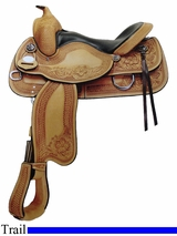"""NO LONGER AVAILABLE 15"""" to 17"""" Crates Supreme Trail Saddle 2176"""