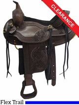 "16"" Dakota Western Saddle, Flex Tree Trail Saddle 2212 CLEARANCE"