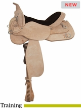 "** SALE ** 15"" to 17"" High Horse by Circle Y Oakland Training Saddle 6315"