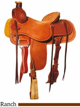 "** SALE ** 15"" to 17"" Reinsman Association Ranch Saddle 4610"