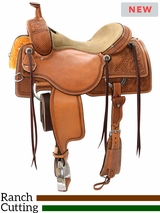 "15"" to 17"" Reinsman Ranch Cutting Saddle 4823 w/Free Pad"
