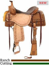 "15"" to 17"" Reinsman Ranch Cutting Saddle 4825 w/Free Pad"